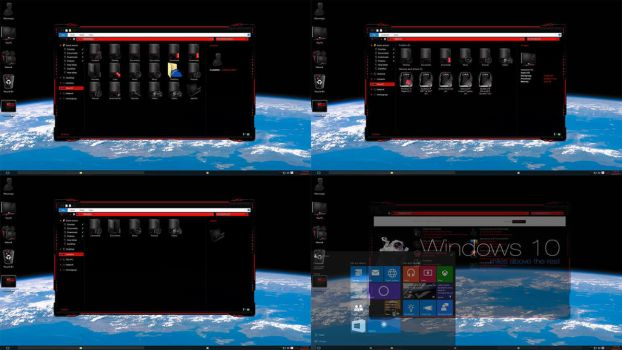 Windows 10 DarkRed edition preview by Moonnique