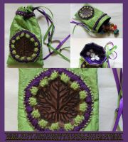 Luxury Grape Leaf Pouch: Great for Tarot, Dice etc by ImogenSmid
