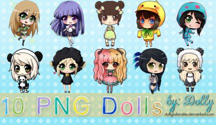10  Cute Png Dolls by Dolly Tutoriales by DollyTutoriales