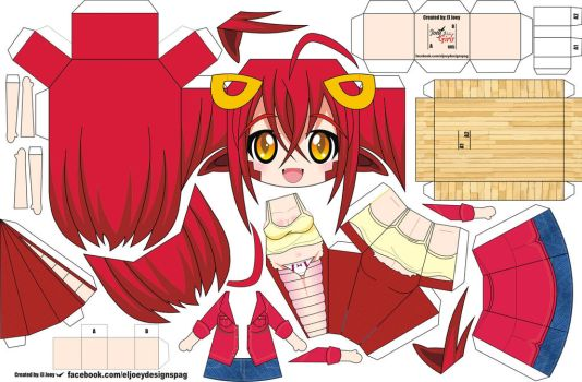 Miia papertoy by ELJOEYDESIGNS