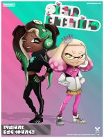 Off the Hook! Band Poster by colormechelsea