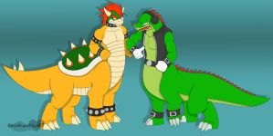 Bowser + Vector Taurs A. Trade by dragonheart07