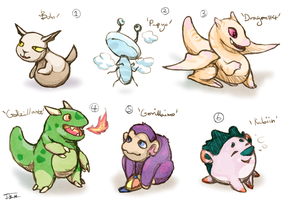 Beta-design Pokemon Adopts: CLOSED! by Jesseth