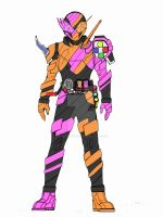 Kamen Rider BUILD : GhostEx-aid form by SayaTukangGambar