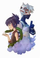Anko and Kakashi by VoxVulpina