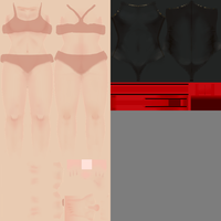 Yandere Simulator - Red and Black School Swimsuit by Jonatas-lemos