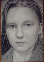 Selfportrait in pencil by Valyanna8361