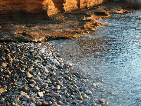 Stones, water and rock by Nes-Suno