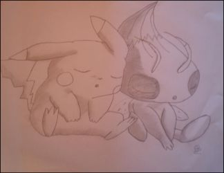 Celeby and Pikachu by QuickiePhotos