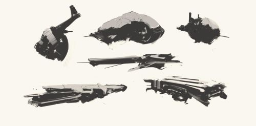 Spaceship Thumbnails Sketch 06032017 by zeedurrani