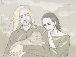Thor and kittens by Pikeperch9