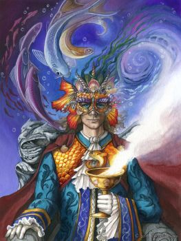 King of Cups - 78 Carnival Tarot by windfalcon