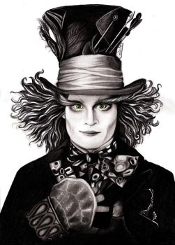 Mad Hatter - Johnny Depp by Fabielove