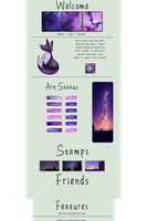 Purple Galaxy/Forest Coding [NOT FREE] by Coding-by-Fiona