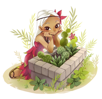 Pitaya and cactuses by meago