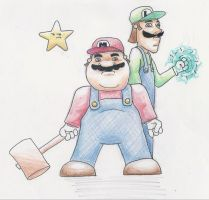 Mario Brothers by Oloring