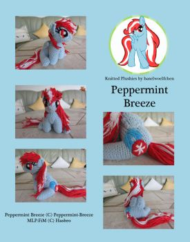 Knitted Plushies - Peppermint Breeze (OC) by haselwoelfchen