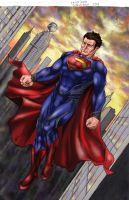 MAN OF STEEL - Colored by cristianosuguitani