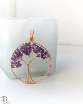 Cooper Amethyst Tree of Life Pendant by DesignByPatri
