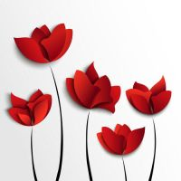 Free Red Flowers Vector Art by vectorbackgrounds