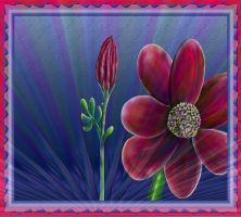 Simple Abstract Flower Design with Special Affects by StephenL