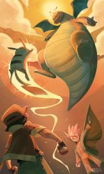 Pikachu VS Dragonite by Curly-Artist