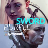 Painting tutorial: SWORD and PURPLE by DangMyLinh