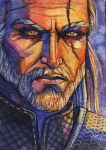 Geralt ACEO by wolf-minori