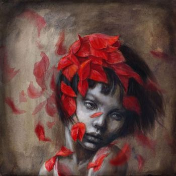 Little Red 03 - Wind and Leaves by BeatrizMartinVidal