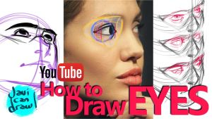 HOW TO DRAW EYES - A YouTube Tutorial by javicandraw