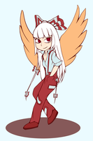 Chibi Mokou by winterwolf38