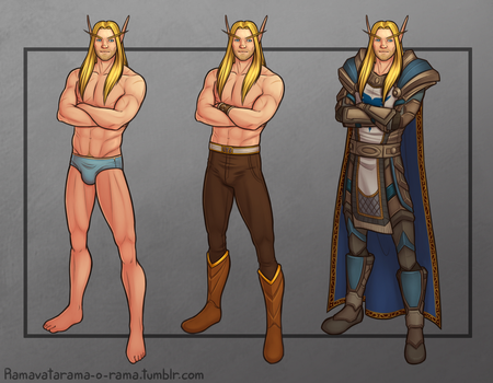 Commission: Fynarion Character Sheet by Ramavatarama