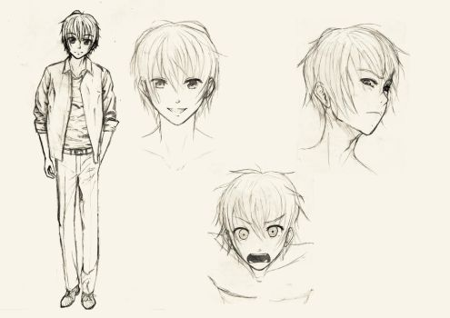 Akito character sketches by gene24manga
