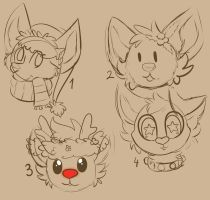 CHISTMAS HEADSHOT YCH 2! [closed] by oliv-berry