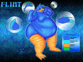 Commission - Flint Ref Sheet by HateMeAllYaWant