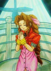 Aerith Gainsborough:  Pray for Holy by dagga19