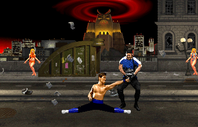 Johnny Cage's Famous move. by paula-ranor