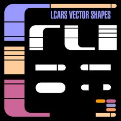 LCARS Vector Shapes by Retoucher07030