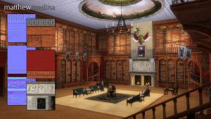 Estate Library Texture and Prop Details by barefootmatthew