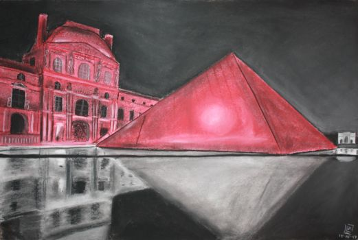 Paris by Red - Le Louvre by Ardia999