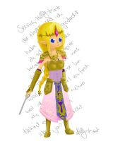 Chibi Hyrule Warriors Zelda by NellyPixit