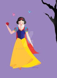 Cutesy Snow White by AmadeuxWay