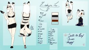 Zidayne Reference Sheet | 2018 by MooshieMoo