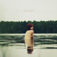 A drop of blood in the lake by AlexandraSophie