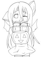 Happy Halloween - Lineart by Kikyuuki