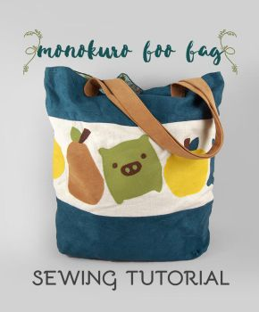 Sewing Tutorial - The Monokuro Boo Bag by SewDesuNe