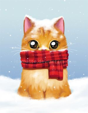 Winter cat by leamatte