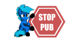 Autocollant STOP PUB by stashine-nightfire