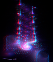 The DNA of Gods Anaglyph 3D Stereoscopy by Osipenkov