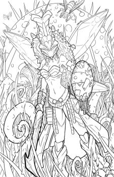 DnD - Vespidoli - line art by teamzoth